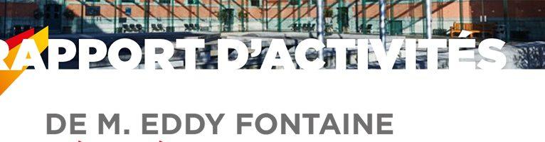 Rapport d'activités d'Eddy Fontaine